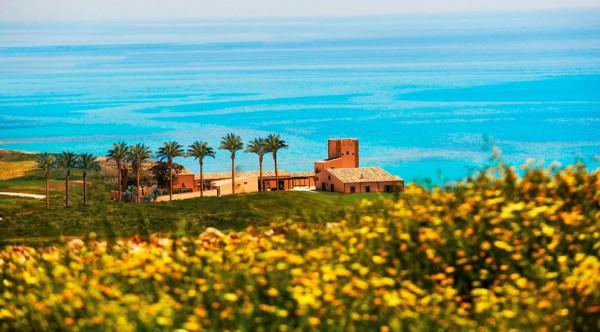 Vue de l'hôtel Verdura Golf & Spa en Sicile