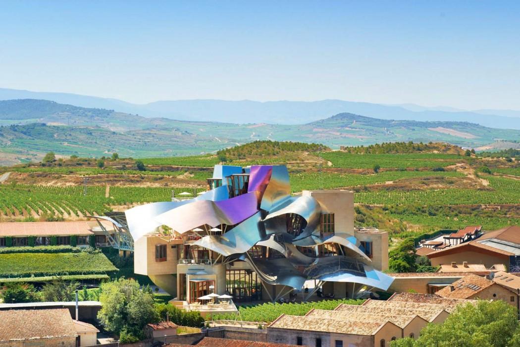 Espagne Marques de Riscal - sur les vignes