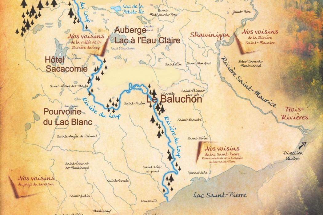 Le Baluchon Canada-carte