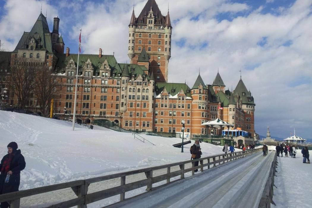 Quebec-Glissade sur terrasse Dufferin