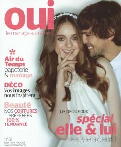 Couverture OUI Magazine _ Mars 2015