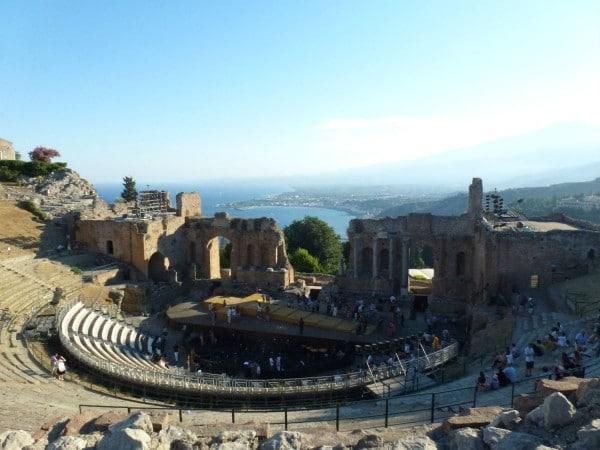 Mon Plus Beau Voyage en Sicile - Taormine - theatre Taormina avec vue
