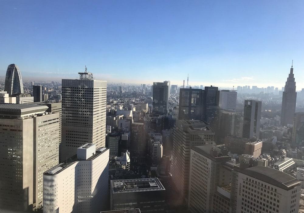 Mon Plus Beau Voyage a Tokyo_chambre Park Hyatt autre vue sur la ville