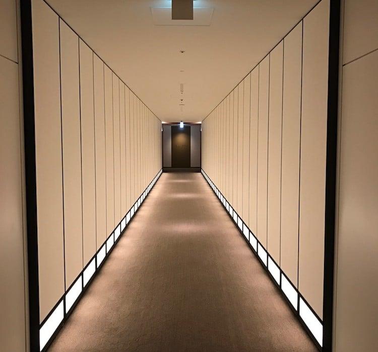 Mon Plus Beau Voyage a l Andaz Tokyo couloir design