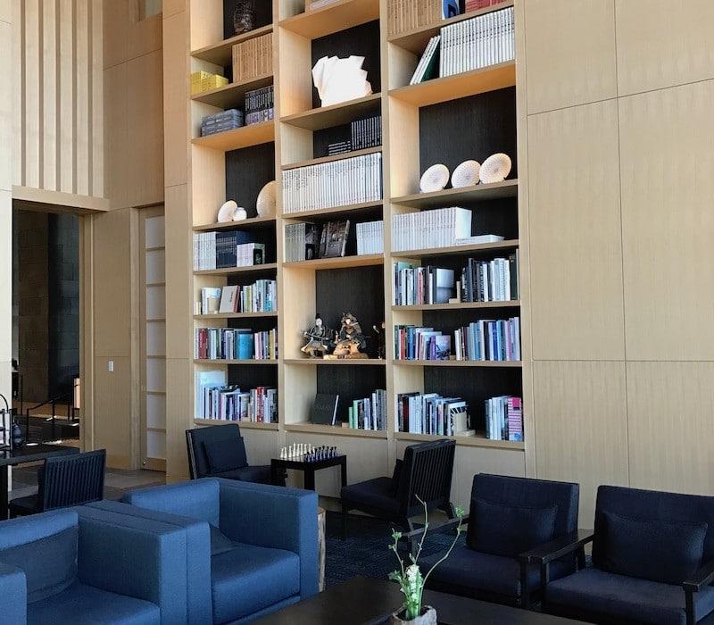 Mon Plus Beau Voyage-circuit de luxe- Hotel Aman Tokyo la bibliotheque