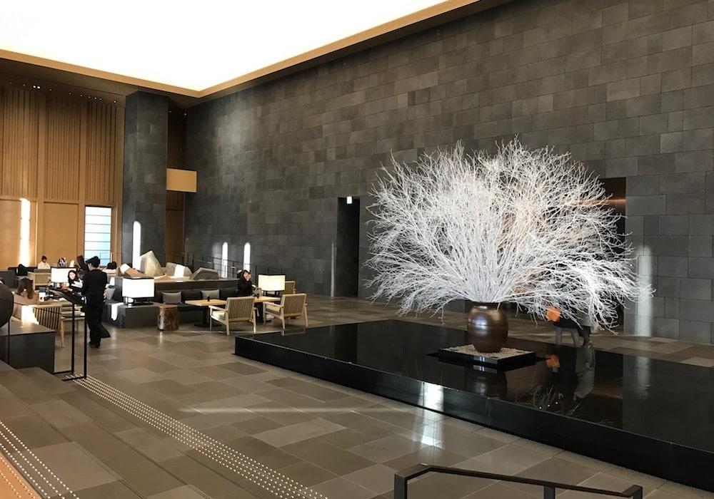 Mon Plus Beau Voyage-circuit de luxe- Hotel Aman Tokyo la reception
