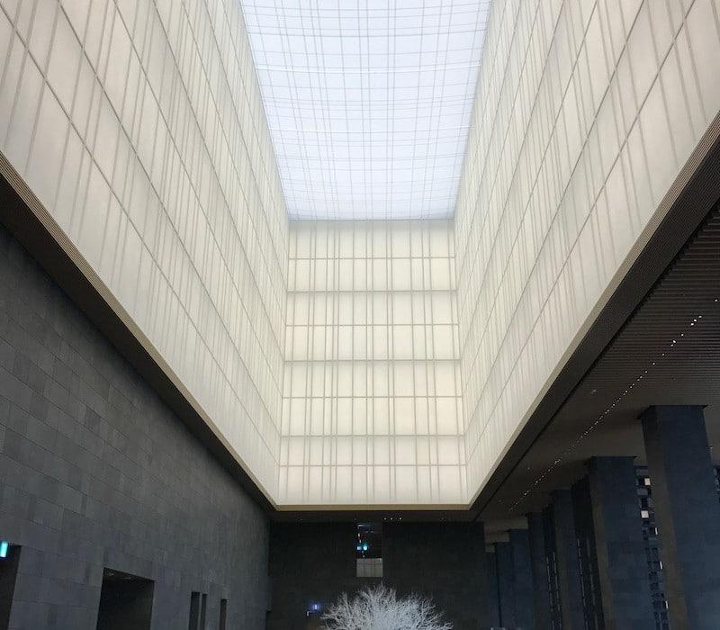Mon Plus Beau Voyage-circuit de luxe- Hotel Aman Tokyo le plafond du lobby