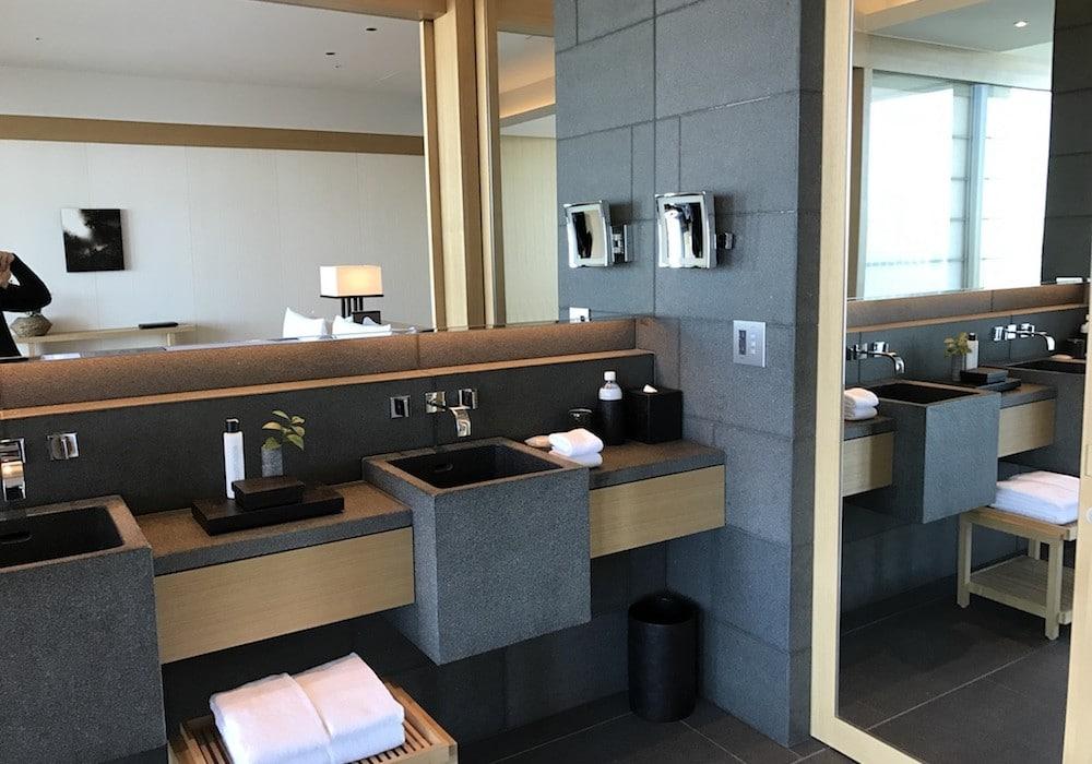Mon Plus Beau Voyage-circuit de luxe- Hotel Aman Tokyo salle de bains