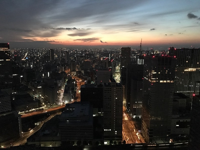 Mon Plus Beau Voyage-circuit de luxe- Hotel Aman Tokyo vue la nuit