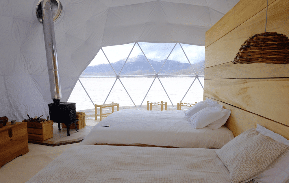 Original Glamping Le dome - autre chambre du camp de luxe