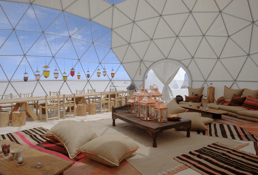 Original Glamping Le dome - salon lounge camp de luxe en bolivie