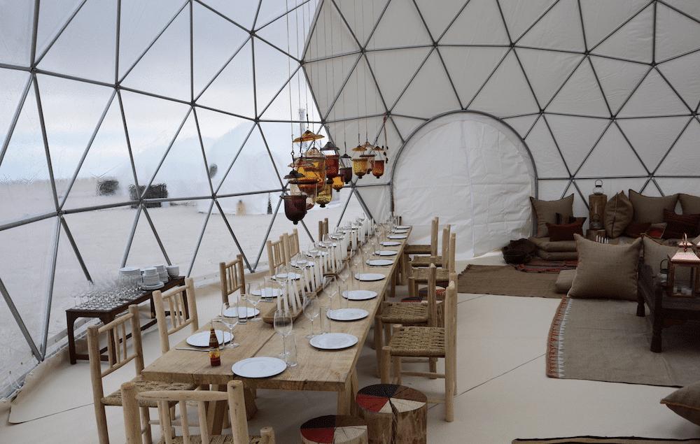 Original Glamping Le dome - salon lounge
