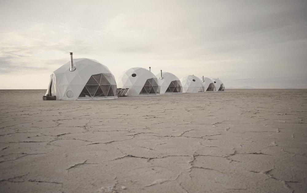 Original Glamping Le dome - vue du camp en bolivie