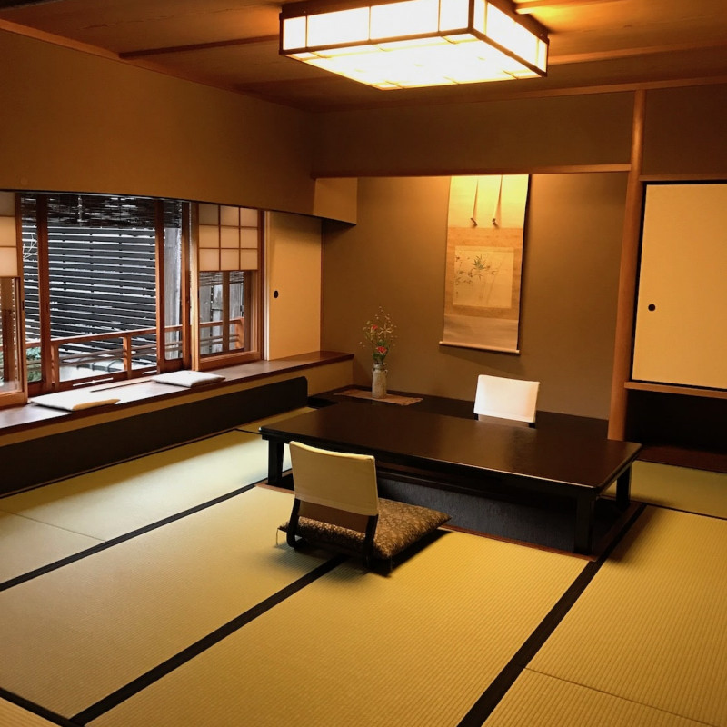 Intérieur du ryokan Yoshikawa à Kyoto.