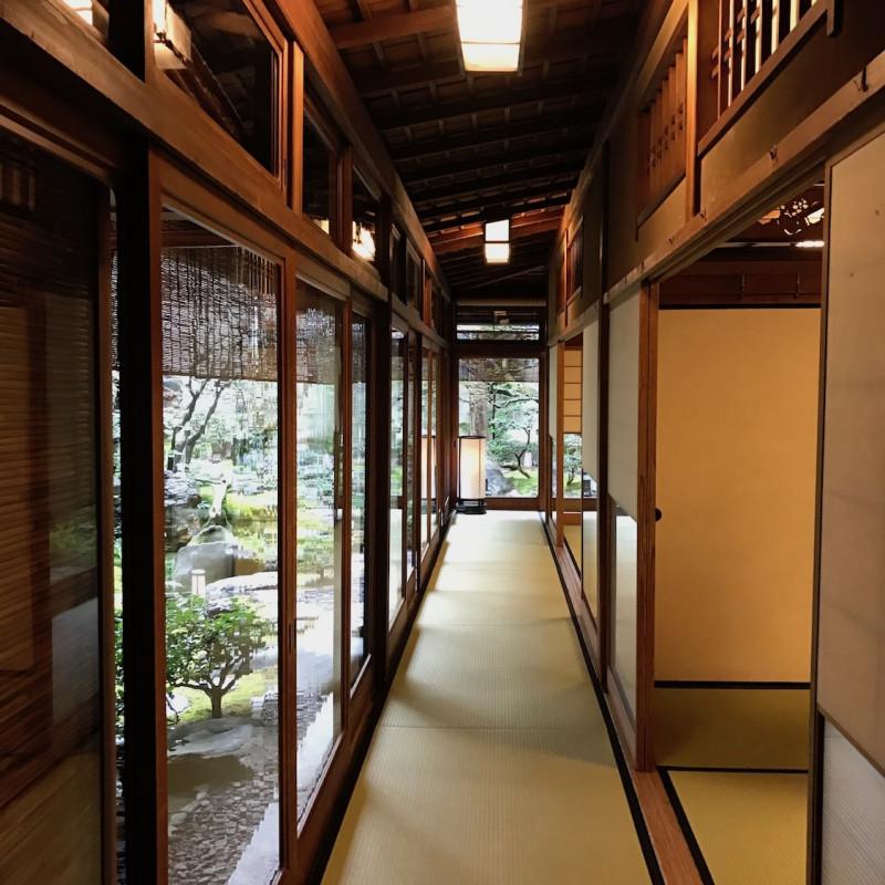 Couloir du ryokan de Kyoto.