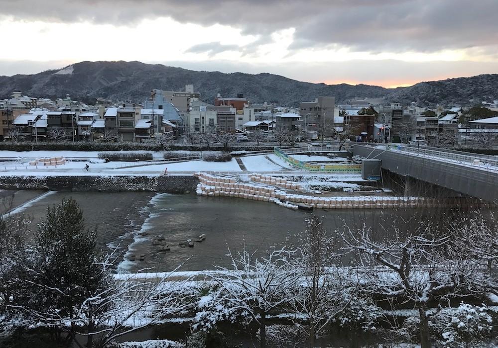 Kyoto sous la neige.