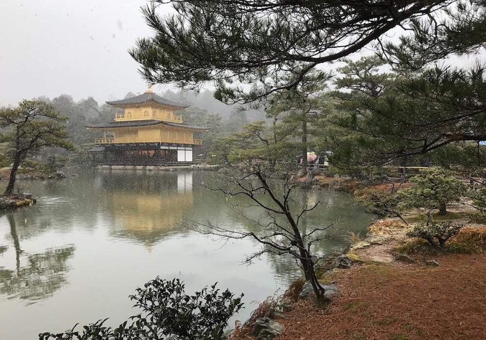 Golden temple sous la neige.