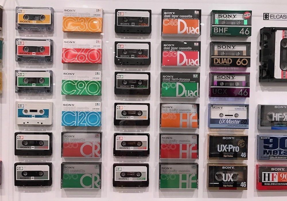 Cassettes Sonyau musée.