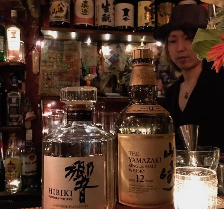 Bar à whisky japonais à Tokyo.
