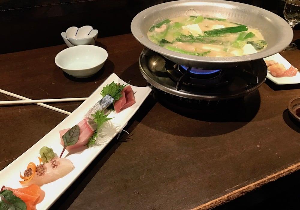 Nabe food au Japon.