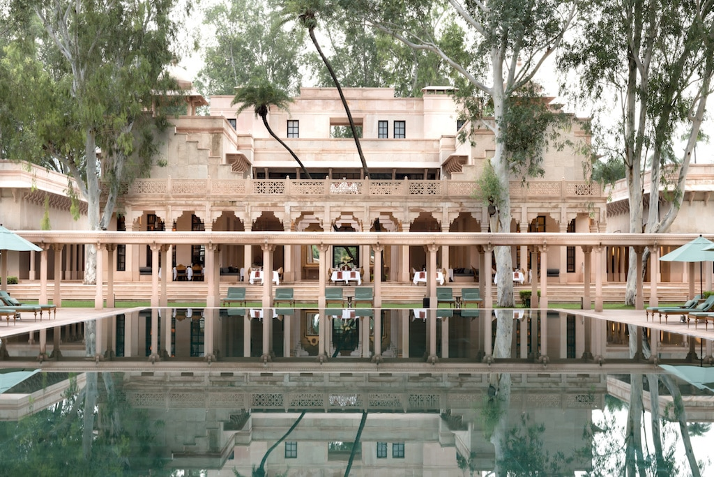 Piscine de l'Amanbagh en Inde.