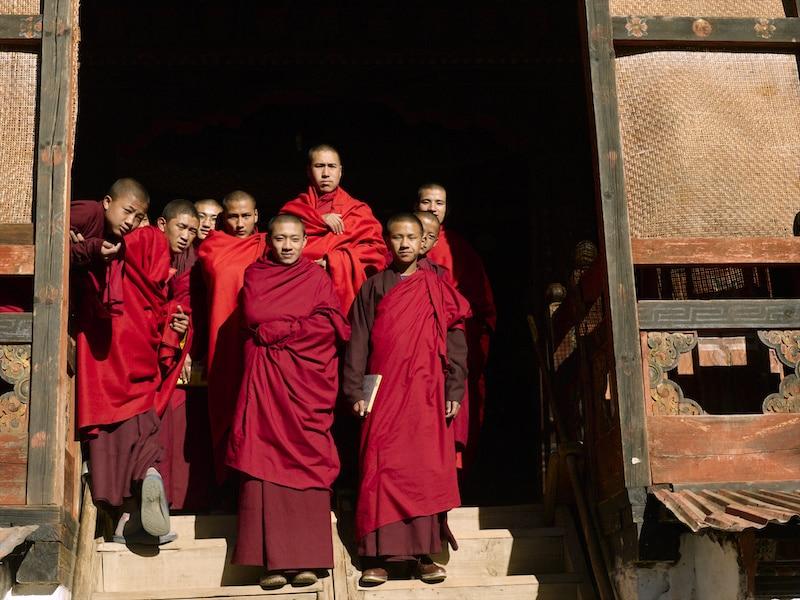 Moines au Bhoutan