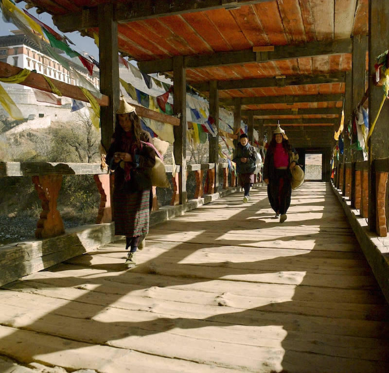Pont Dzong au Bhoutan.