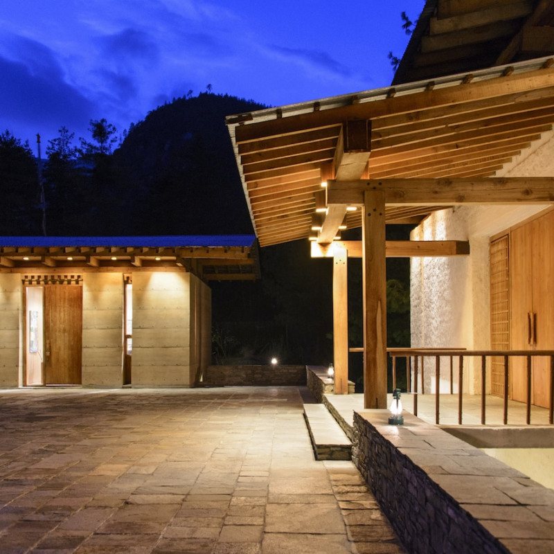 Hôtel Amankora Paro au Bhoutan.