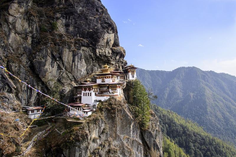 Le nid du tigre au Bhoutan.