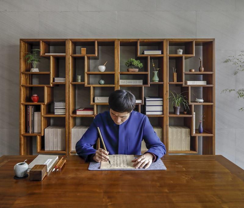 Calligraphie à Aman Yangyun en Chine