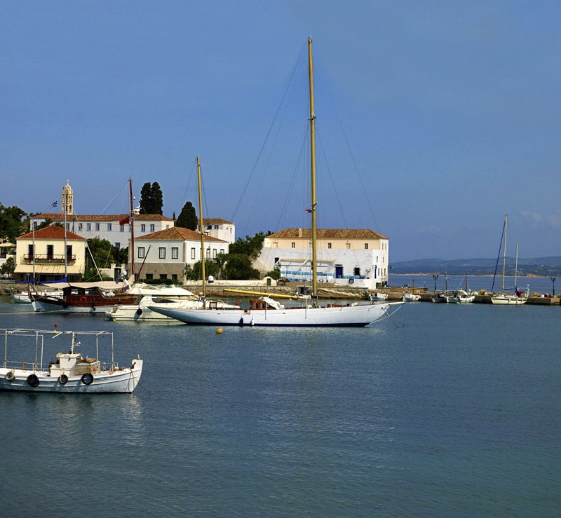 Bateau de l'île Spetses en Grèce.