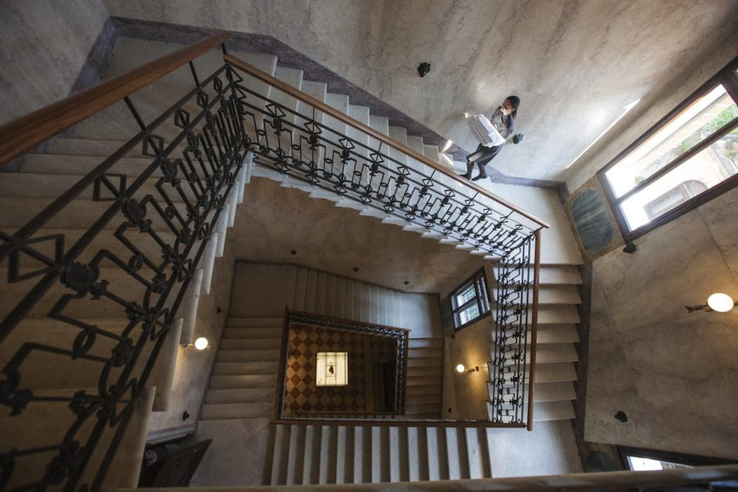 Cage d'escalier de l'Aman Venice à Venise.