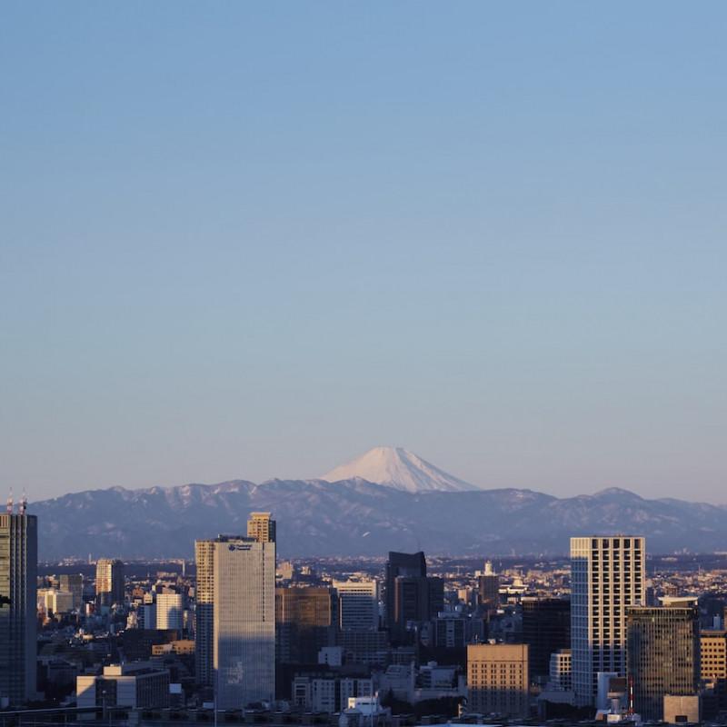 Skyline depuis le Aman Tokyo au Japon.