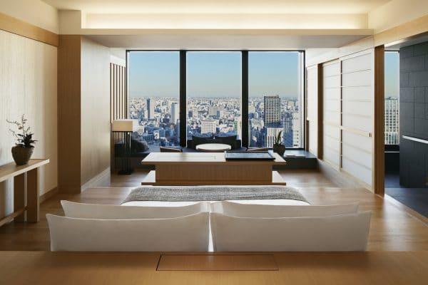 Hôtel Aman Tokyo au Japon.