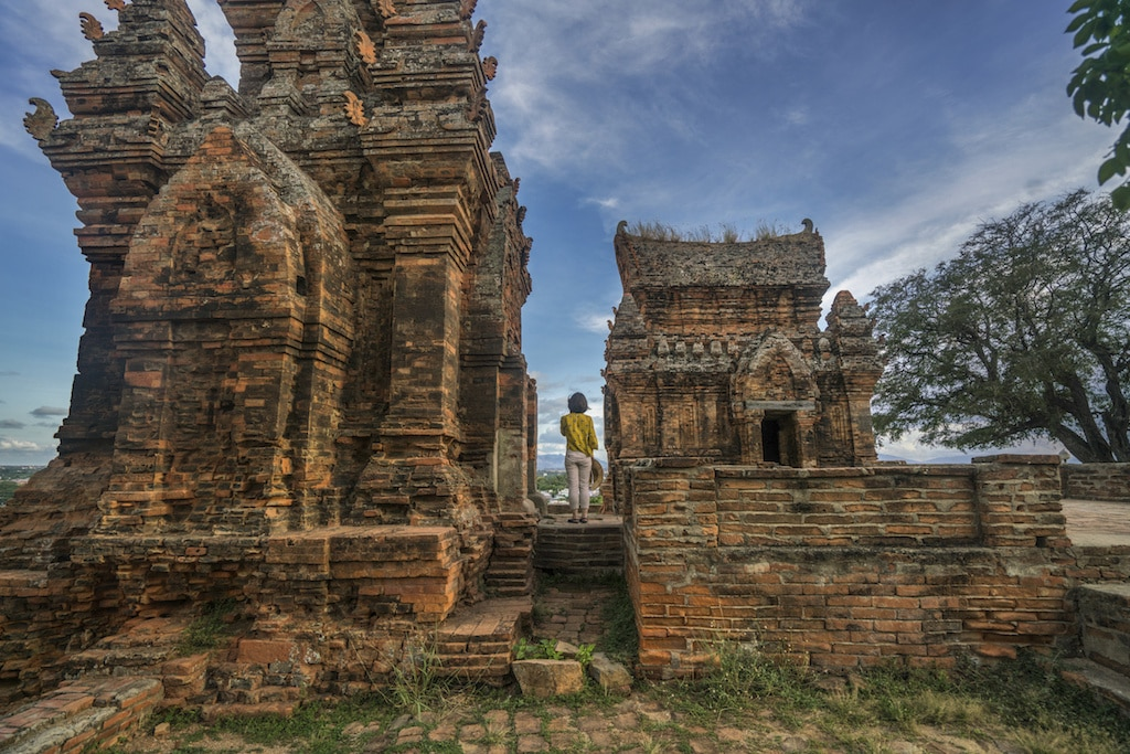 Temple près de l'Amanoi au Vietnam.