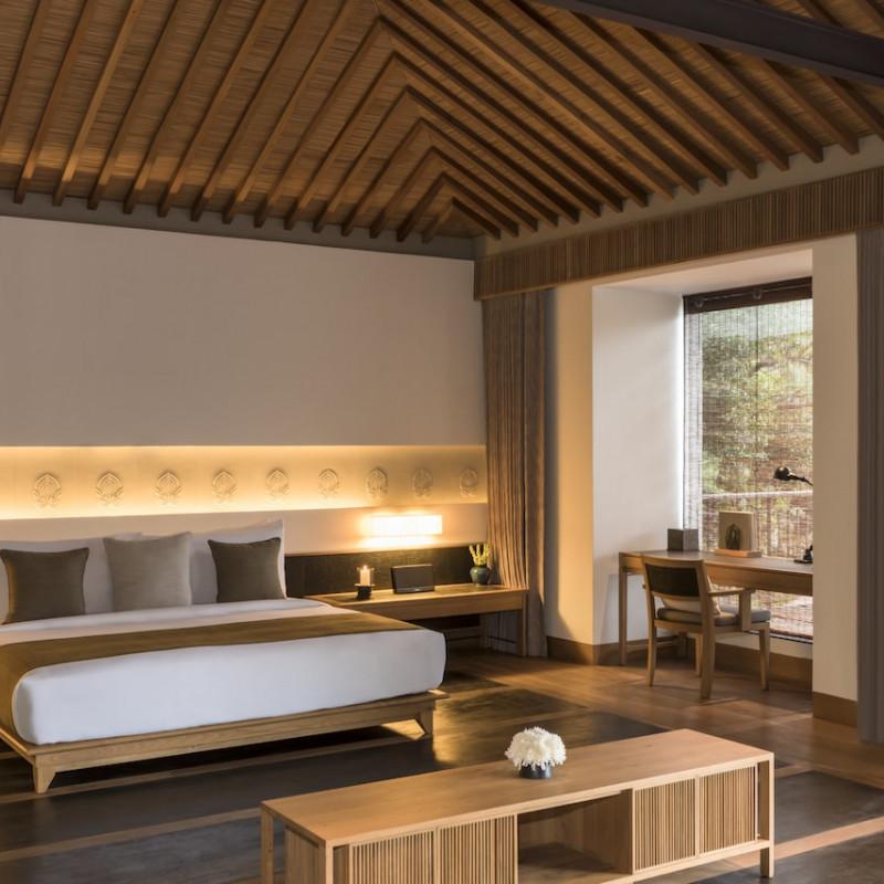 Chambre à l'Amanoi au Vietnam.