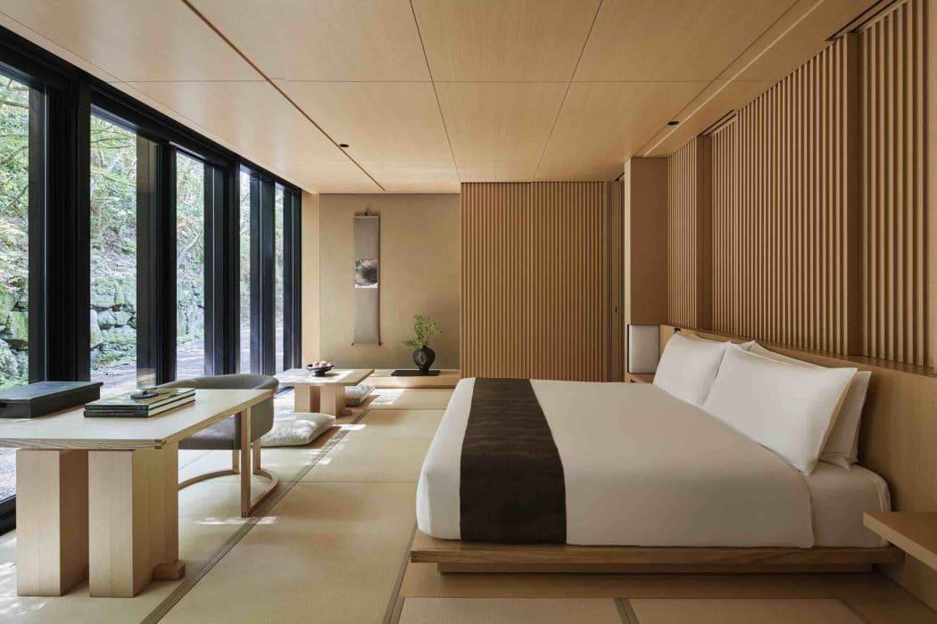 Chambre Aman Kyoto au Japon.